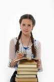 Diligent schoolgirl Stock Image