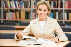 Diligent student Royalty Free Stock Images