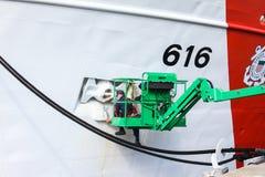 Diligenza della taglierina della guardia costiera, Wilmington, NC Fotografia Stock