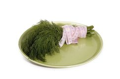 Dill and centimetre Royalty Free Stock Photo