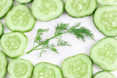 Dill and cucumber Royalty Free Stock Photo