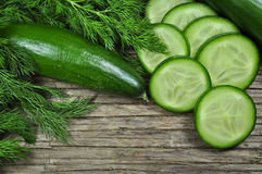 Dill and cucumber Stock Image