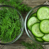 Dill and cucumber Royalty Free Stock Photos