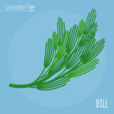 Dill flat design  icon. Stock Photo