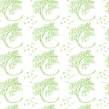 Dill hand drawn pattern Royalty Free Stock Images