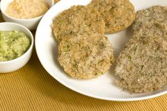 Dill idlis is a healthier version of idli's. Which is staple food in South Indian for breakfast Royalty Free Stock Photos