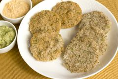 Dill idlis is a healthier version of idli's. Which is staple food in South Indian for breakfast Royalty Free Stock Photo