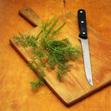 Dill and knife Stock Photography