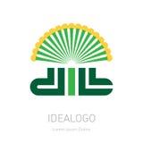 Dill - original lettering logo, vector organic logotype or illustration Stock Photos