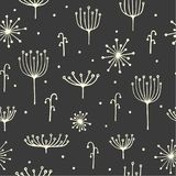 Dill pattern on a dark background. Stock Image