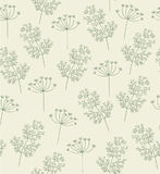 Dill pattern vector. Seamless handdrawn Royalty Free Stock Photos