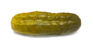 Dill pickle. Dill piclke. Isolated over white Stock Photography