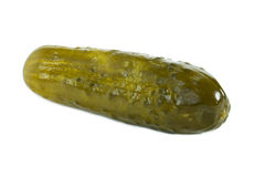 Dill pickle. On white background Stock Photos