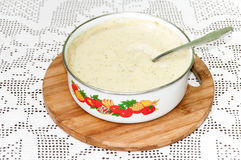 Dill sauce in the bowl Stock Image