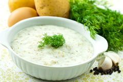 Dill soup Royalty Free Stock Photos