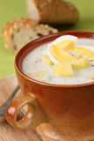 Dill soup with egg Royalty Free Stock Images