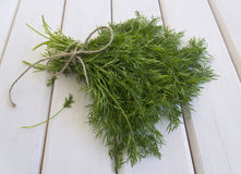 Dill on table Stock Photo
