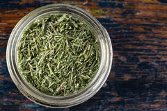 Dill weed. Dried dill weed in a spice jar Royalty Free Stock Photo