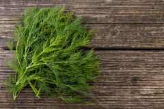 Dill on a wooden underground Royalty Free Stock Image