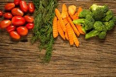 dilled Dziecko pomidory marchew brokuły E Kuchnia obraz royalty free