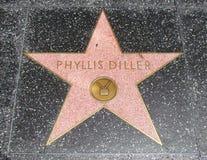 diller sławy Hollywood phyllis spacer fotografia royalty free
