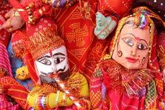 Dilli haat, rajasthani,木偶夫妇, 库存照片
