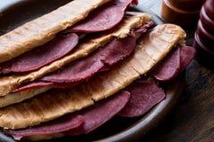 Dilli Kasarli / Beef Tongue Sandwich Stock Photo