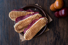 Dilli Kasarli / Beef Tongue Sandwich Royalty Free Stock Photography