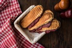 Dilli Kasarli/Rinderzunge-Sandwich Lizenzfreies Stockbild