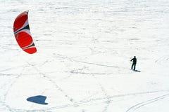 dillon开放snowkite 免版税库存照片