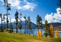 Dillon Lake. Lake and mountains in Dillon. Just outside of Denver, Colorado stock photography