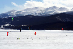 Dillon Open Snowkite stock afbeeldingen