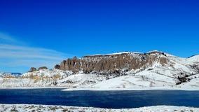 Dillon pinakle przy Błękitnym mesa rezerwuarem, Kolorado obrazy royalty free
