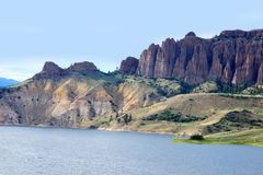 Dillon Pinnacles, Colorado. Dillon Pinnacles, slowly uplifted landscape million years ago in Gunnison, Colorado, USA the Curecanti National Recreation Area stock photography