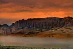Dillon Pinnacles på solnedgången fotografering för bildbyråer