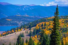 Dillon Silverthorne Colorado. Dillon, Silverthorne Colorado Landscape. Fall in Colorado royalty free stock images