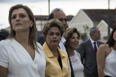 Dilma Rousseff assiste all'apertura del museo del domani a Rio Immagine Stock
