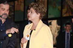 Dilma Rousseff assiste all'apertura del museo del domani a Rio Fotografia Stock Libera da Diritti