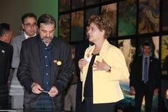 Dilma Rousseff assiste all'apertura del museo del domani a Rio Immagini Stock Libere da Diritti