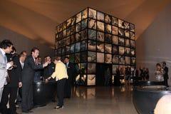 Dilma Rousseff assiste all'apertura del museo del domani a Rio Fotografie Stock Libere da Diritti