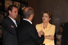 Dilma Rousseff deltar i öppningen av museet av morgondagen i Rio de Janeiro Royaltyfri Fotografi