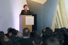 Dilma rousseff, president of brazil Royalty Free Stock Image
