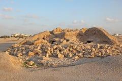 Dilmun埋葬土墩在A'ali。巴林 免版税库存照片
