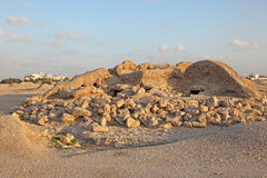 Dilmun Burial Mounds in A'ali. Bahrain. Dilmun Burial Mounds in A'ali. Kingdom of Bahrain, Middle East Royalty Free Stock Photo