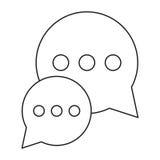 Diálogo da conversa da bolha que conversa o esboço social dos meios Imagens de Stock