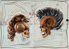 Diálogo - mito - cráneos, ejemplo del vector Imagenes de archivo