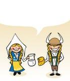 Diálogo sueco da bolha dos pares dos desenhos animados Imagens de Stock