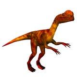 dilophosaurus恐龙 皇族释放例证