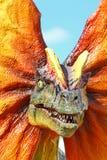 dilophosaurus恐龙 免版税库存照片