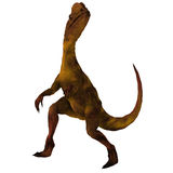 Dilophosaurus. Rendered Image of a Dinosaur - with Clipping Path royalty free illustration